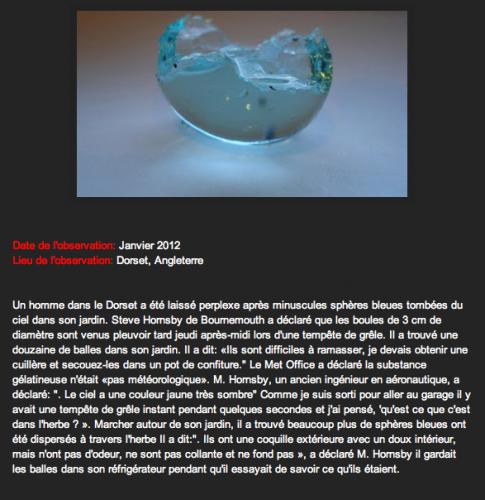 Sphères de Janvier 2012